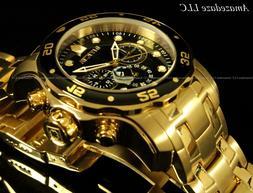 Invicta Men's 0072 Pro Diver Collection Chronograph 18k Gold