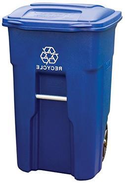 Toter 025532-R1BLU Residential Heavy Duty 2-Wheeled Recyclin