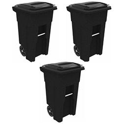 Toter 025532-R1GRS Residential Heavy Duty 2-Wheeled Trash Ca