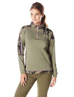 Yukon Gear Women's 1/4 Zip Technical Fleece Jacket, Mossy Oa