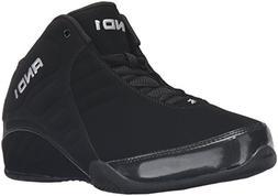 AND 1 Men's Rocket 3.0 Mid Basketball Shoe, Black/Black,9 M