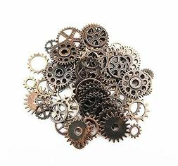 Yueton 100 Gram Approx 70pcs Assorted Antique Steampunk Gear