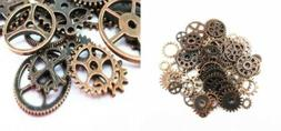 Yueton 100 Gram  Assorted Antique Steampunk Gears Charms Cop