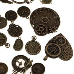 100g Assorted Charms Gear Pendant Jewelry Making Craft for N