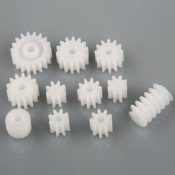 11 Kinds Plastic Main Shaft Gears 9 Spindle + 2 Worm For Toy
