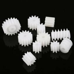 11 Kinds Plastic Shaft Gears 9Spindle and 2Worm DIY For Toy