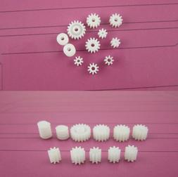 11 Kinds Plastic Shaft Gears 9Spindle and 2Worm DIY For Robo