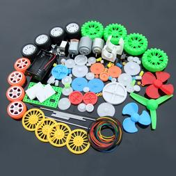 112pcs Plastic Gear Shaft Motor Tire Combination Kit Model A
