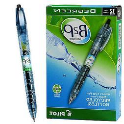 12 Pilot BeGreen B2P Rollerball Gel Pen Fine Black 31600