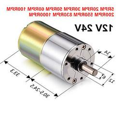 12V 24V DC 60RPM 100RPM 200RPM 1000RPM High Torque Gear-Box