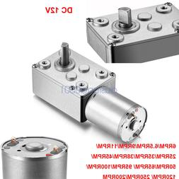 12V DC Motor High Torque Reduction Worm Reversible Turbo Gea