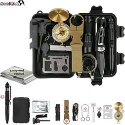 13-In-1 Outdoor Emergency Survival Kit Camping Hiking Tactic
