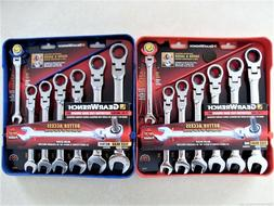 GearWrench 14pc Flex Head Ratcheting Combination Wrench Set