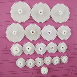 19 Kinds Plastic Shaft Double Reduction Gears DIY For Toy Ro