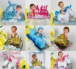 1PC Baby Shower Favor Boy Girl Cake Topper Decoration Figuri