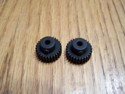 2- Traxxas 28 tooth Steel pinion gear w/ set / grub screw 28