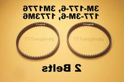 Two Belts 3M-177-6,  3M1776, 177-3M-6, 1773M6 New Geared Be
