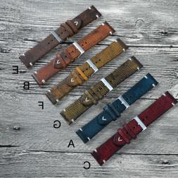 20mm/22mm Vintage Leather Wrist Watch Band Strap For Samsung