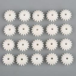 20pcs Plastic Bevel Gear Right Angle Drive Plastic Gears 16T
