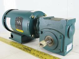 Baldor 20Q10L56 10:1 Ratio 175RPM .75Hp 230/460V Gear Motor