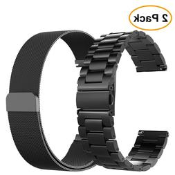2PCS Band For Samsung Galaxy Watch 46mm / Gear S3 Frontier /