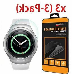 3 Pack For Samsung Galaxy Gear S2 Watch Premium Tempered Gla
