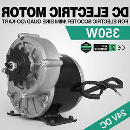 350W DC Electric Motor 24V 3000RPM Gear