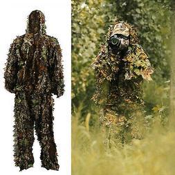 3D Ghillie Suit Set Sniper Train Leaf Jungle Forest Wood Hun