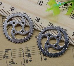 4/20/60/100pcs Retro Jewelry Making Whirlwind Gear Alloy cha