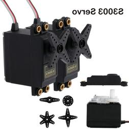 2X S3003 Metal Gear Standard Servo High Speed For RC Helicop