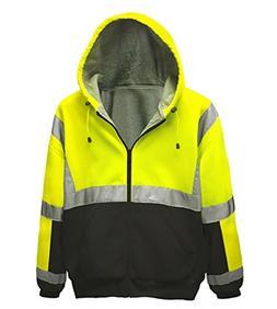 Brite Safety Style 5010 Safety Sweatshirt, Hi Vis 2-Tone Hoo
