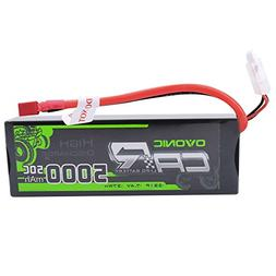 Ovonic 7.4V 5000mAh 50C 2S LiPo Battery Pack HardCase with D