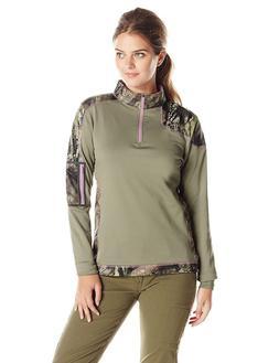 5549 Yukon Gear Women's 1/4 Zip Tech Fleece Jacket Mossy Oak
