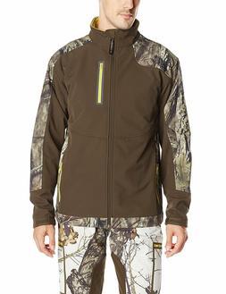Yukon Gear Mens Windproof Soft Fleece Jacket Mossy Oak Break