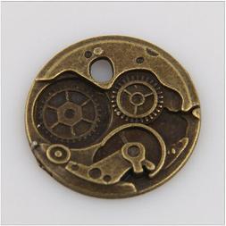 20 Gear Tibetan Silver Charms Pendants Jewelry Making Findin