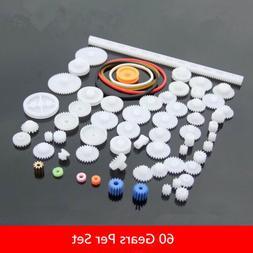 60pcs Plastic Gear Package Kit DIY Gear Assortment accessori