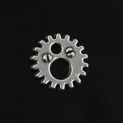 60pcs Tibetan Silver Gear Charms Pendants for Jewelry Making
