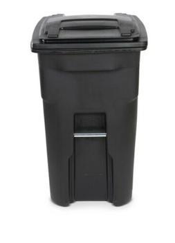 Toter 64 Gallon 2-Wheel Trash Can Cart, Black