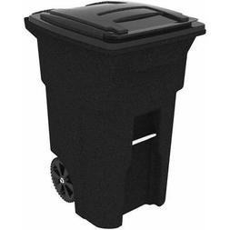 Toter 64 Gallon 2-Wheel Trash Can Cart, Blackstone