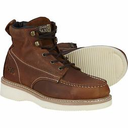Gravel Gear 6in Steel Toe Moc Boots - Size 13, Brown #NT1772