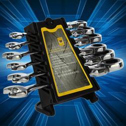 6Pcs Double Head Ratchet Portable Gear Wrench Spanner Flexib