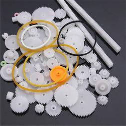 75pcs Plastic Gear Rack Pulley Belt Worm Airplane Car Model