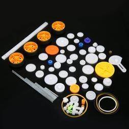 78pcs Plastic Gear Package Kit DIY Gear Assortment Accessory