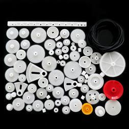 81pcs Plastic Gear Wheel Assorted Kit For Toy Car Motor Shaf