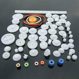 9E86 Plastic DIY Innovative Pulley Cog Wheel Plastic Gear To