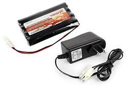 Combo: Tenergy 9.6V 2000mAh NiMH Battery Pack + 12V 300mA Pa