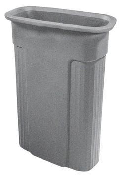 Toter 0REC21-R1GST Slimline Rectangular Trash Can, 23-Gallon