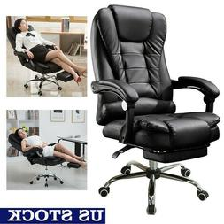 Adjustable Office Gaming Chair Ergonomic PU Leather High Bac