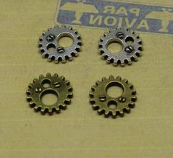 Antique Bronze Silver Filigree Gear Jewellery Making Charms