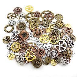 200 Gram Antique Steampunk Gear,Mix Steampunk Wheel,Alloy Ge